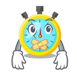Silent cartoon stopwatch on for the race. Vector illustration royalty free illustration
