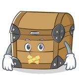 Silent chest character cartoon style Stock Photography
