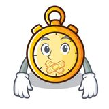 Silent chronometer character cartoon style Stock Photo