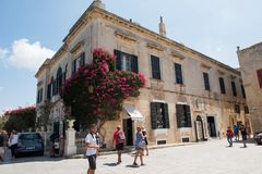 Silent city of Mdina, Malta Royalty Free Stock Images