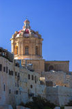 The medieval citadel of Mdina. Cathedral of St Paul in the walled Silent City, government and administrative centre during the medieval period, Mdina, Malta Royalty Free Stock Image