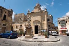 Silent city of Mdina, Malta Royalty Free Stock Photography