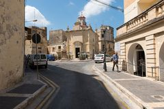 Silent city of Mdina, Malta Royalty Free Stock Photos