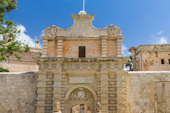 The Silent City of Mdina on Malta Stock Photos