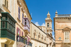 The Silent City of Mdina on Malta Stock Images