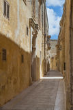 The Silent City of Mdina on Malta Stock Photography