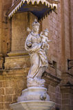 Malta, Mdina, Silent City. Statue of Madonna with the Baby Jesus in the walled Silent City, government and administrative centre during the medieval period Stock Photo