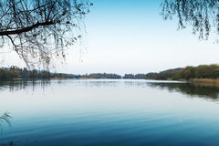 Silent coastal landscape. West Lake park in Hangzhou Stock Photo