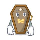 Silent coffin mascot cartoon style royalty free illustration