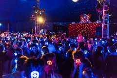 Silent disco at the annual Moomba festival in Melbourne, Australia stock images
