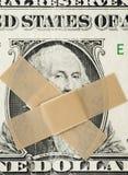 Silent dollar. Royalty Free Stock Image