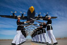 Silent Drill Platoon, Marine Corps Stock Photos