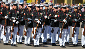 Silent Drill Team. Soldiers of the United States Marine Corps Silent Drill Team. Image taken on March 8th 2008, at MCRD, San Diego Stock Photos