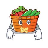Silent fruit basket character cartoon Royalty Free Stock Photography