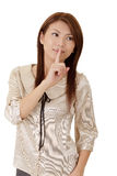 Silent gesture Stock Photo