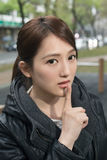 Silent gesture Stock Photography