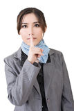 Silent gesture Royalty Free Stock Photo
