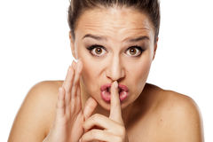 Silent gesture Royalty Free Stock Photos