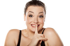 Silent gesture Stock Images
