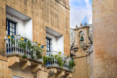 Silent and magical alley in Mdina, Malta Royalty Free Stock Photography
