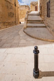 Silent and magical alley in Mdina, Malta Royalty Free Stock Photos