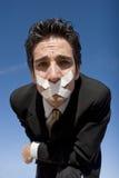 Silent man Stock Photo