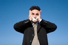 Silent man Royalty Free Stock Photo