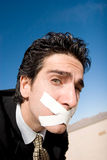 Silent man Stock Images