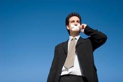 Silent man Stock Image