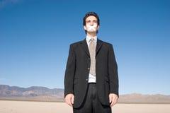 Silent man Stock Photos