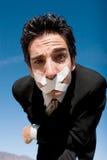 Silent man Royalty Free Stock Photos