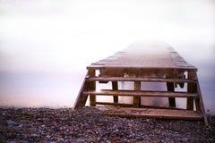 Silent morning. Foggy morning at elba island in winter Royalty Free Stock Photo
