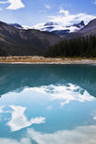 Silent mountain lake with the cold water, Royalty Free Stock Photos