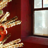 Silent night. A Xmas tree in the house Stock Image