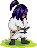 Silent ninja on the grass Royalty Free Stock Photography