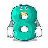 Silent number eight volume logo the mascot. Vector illustration stock illustration