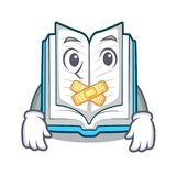 Silent opened book in the cartoon box royalty free illustration