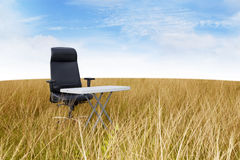 Silent outdoor office Stock Image