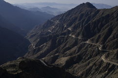 Silent Path. Road to Al Baha , Saudi Arabia Royalty Free Stock Image
