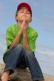Silent Prayer. A child in prayer