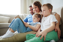 Silent reading Royalty Free Stock Photography