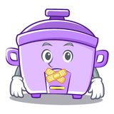 Silent rice cooker character cartoon. Vector illustration Royalty Free Stock Photo