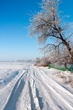 Silent Russian village in the winter 2 Stock Photo