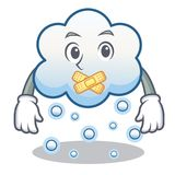Silent snow cloud character cartoon Royalty Free Stock Photography
