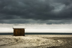 Silent. Before the storm at seaside Royalty Free Stock Photography