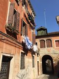 Silent street in Venice Stock Image