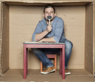 Free Silent System, Man In The Box Stock Images - 70477624