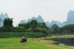 A SILENT VALLEY OF LIJIANG RIVER Stock Photography