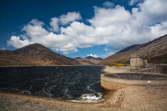 Silent Valley Reservoir. Lake in the Mourne Mountains near Kilkeel, County Down in Northern Ireland royalty free stock photos