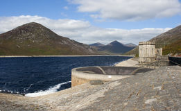 The Silent Valley reservoir in the Mountains of Mourne Stock Image
